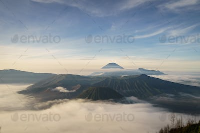 Mount Bromo volcano (Gunung Bromo) in East Java Indonesia