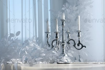 Vintage silver candlestick