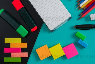 colorful stationary mockup