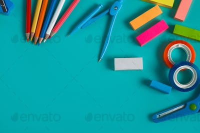 group of colorful stationary set