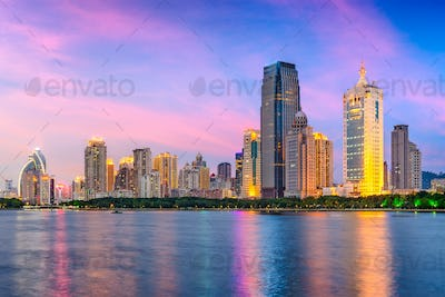 Xiamen, China Skyline