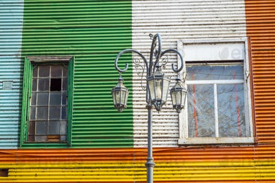 Colorful facade in the famous la Boca district