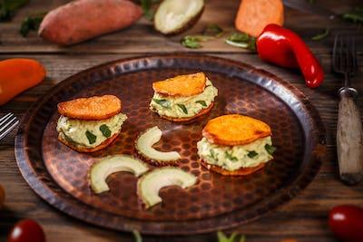 Avocado sandwich breakfast