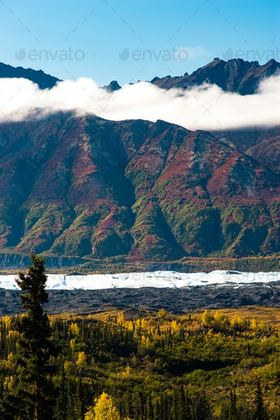 Ancient Lava Flow Rust Color Alaska Mountain Landscape