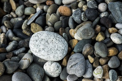The pebbles rock beach