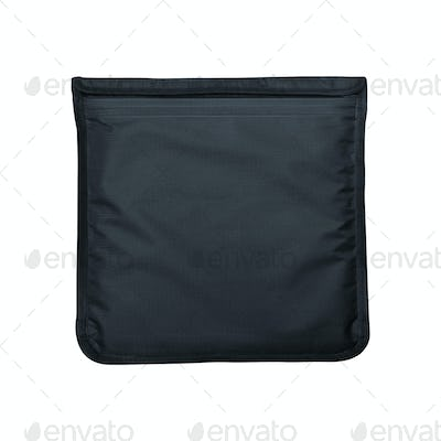 Gray Cosmetics bag isolated on white
