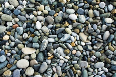 Sea gravel pebbles background