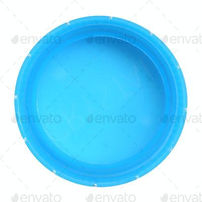 Used plastic bottle cap isolated white