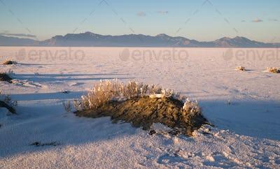 Bonneville Salt Flats Graham Peak Sunset Mountain Range