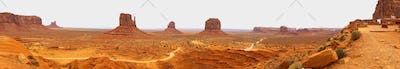 Panoramic View Monument Valley Utah Navajo Nation Recreation Area