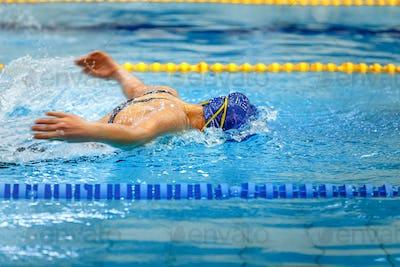 female athlete swimmer
