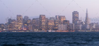 Waterfront Downtown City Skyline Port San Francisco California