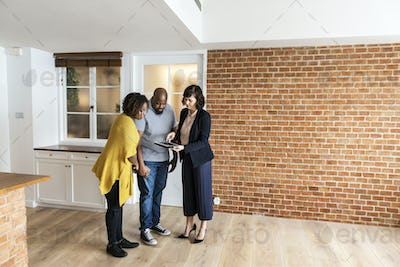 Black couple buy new house