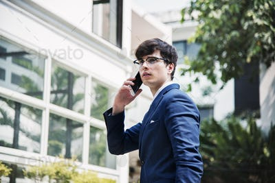 Businessman communicate on the phone