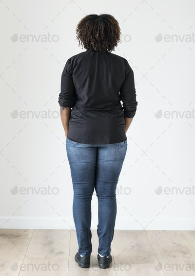 Portrait of black woman full body