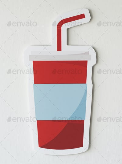 Red drinking cup beverage icon