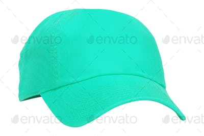 Green cap isolated on white