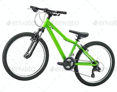 green bike isolated on white