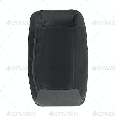 Black backpack isolated on white