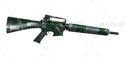 M16 rifle isolated on white