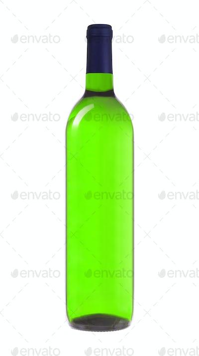 Green Wine Bottle isolated