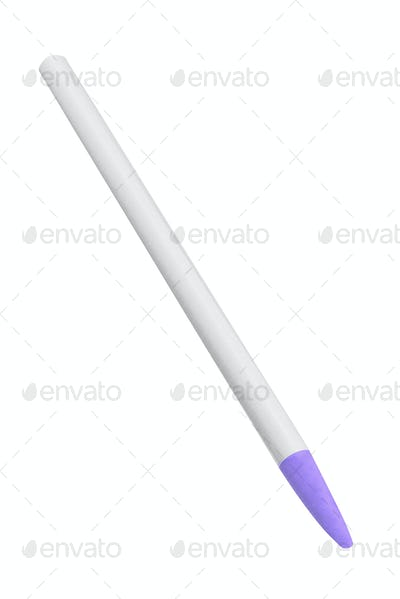 Blue pen isolated on white