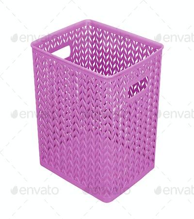 plastic purple basket isolated on white