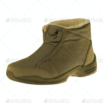 trekking boots on a white background