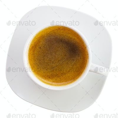 Black coffee cup above