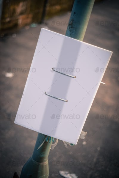 Blank Grungy Street Sign