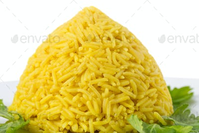 Delicious rice with curry.