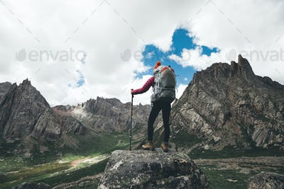 Hiking in high altitude mountains