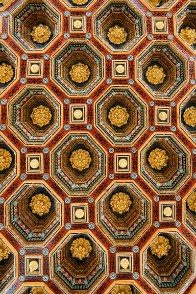 Mir, Belarus. Ceiling Roof In The Dining Room Izba In Castle Com