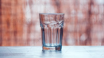 Empty drinking glass on the table