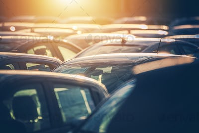 Dealership Lot Full of Cars