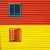 Colorful house facade in La Boca, Buenos Aires