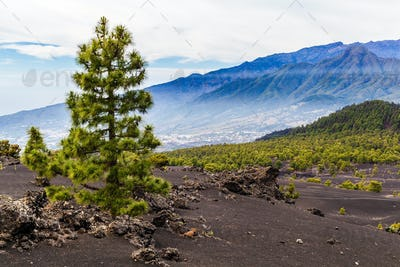 Mountains landscape volcanic island