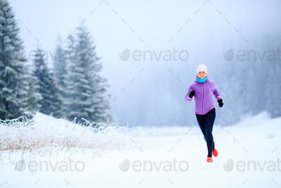 Woman fitness inspiration and motivation, runner