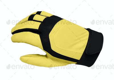 Yellow sport gloves