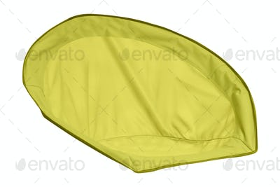 Yellow cloth isolated on white background