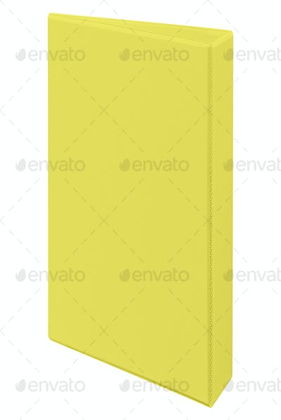yellow folder isolated