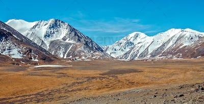 Snowy mountains. Russia, Siberia, Altai mountains