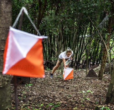 Outdoor orienteering check point activity