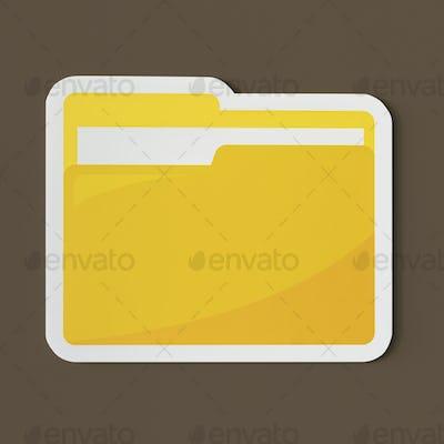 Icon of a yellow folder