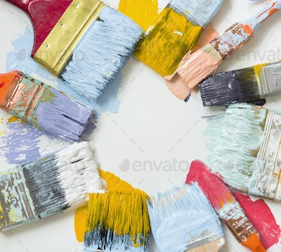 Paint brushes and colors