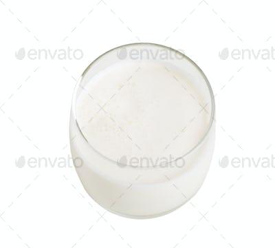 Glass of fresh milk.