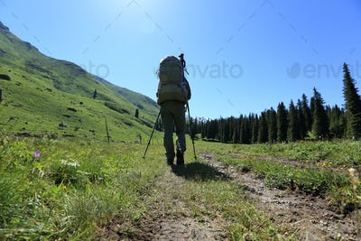 Trekking on high altitude trails