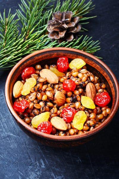 traditional christian Christmas dish, kutya