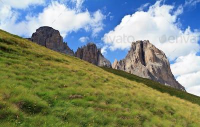 Dolomites on summer