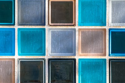 Wallpaper image of transparant glass tiles